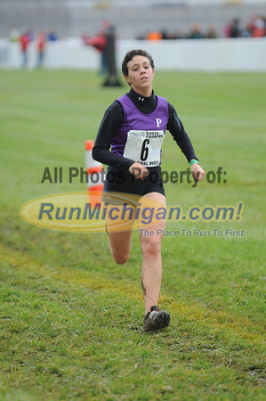 Finish, Gallery 1, D1 Girls - 2013 MHSAA LP XC Finals