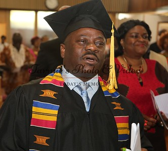 "(UCFC) UNITED CHRISTIAN FOLLOWSHIP CHURCH CELEBRATE PASTOR CHARLES  GOAH  GRADUCATION AND AWARDING OF DEGREE BY DR,LANCE WONDERS,ACADEMIC DEAN ACTS COLLEGE AT THE UCFC CHURCH JUNE 12th,  2016. ""MANY NATIONS,ONE CHURCH."" PHOTO BY: ""TARNUE PHOTOS AND VIDEO."
