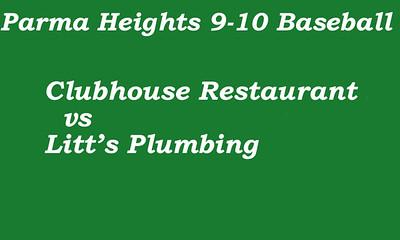 170608 Parma Heights Boy's 9-10 Baseball-McMillen Field