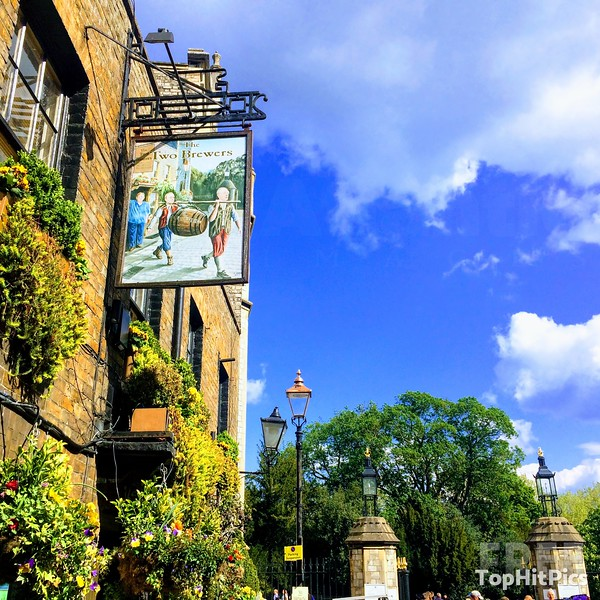 The Two Brewers Pub Sign in Windsor, Berkshire, England