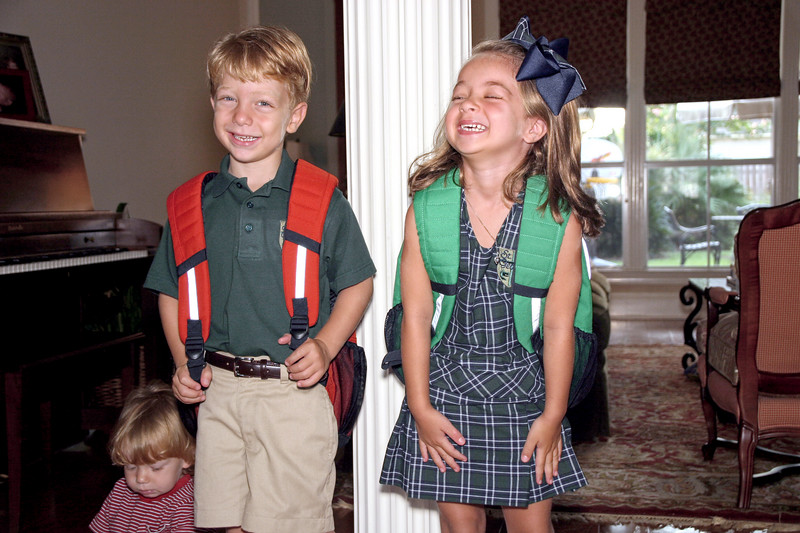 Kate and Harry's first day at Kindergarten.