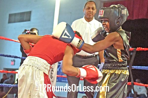 Bout 2 Izaiah Darden, Red Gloves, Team Cartel, Toledo -vs- Ibrahim Mason, Blue Gloves, Kingdoms Fitness BC, Cleveland, 75 Lbs