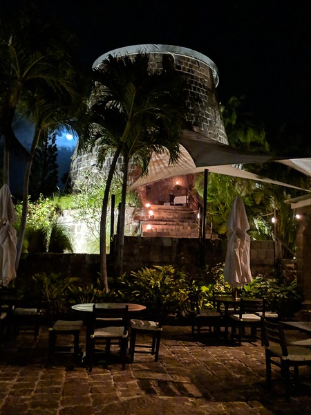 The next night; the Mill Privee at Montpelier Plantation
