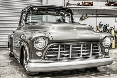 55 Chevy Black & White Chrome additional edits