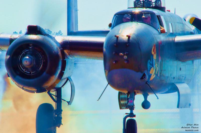 Canadian Warplane Heritage Musuem B-25 Mitchell at 2015 SkyFest