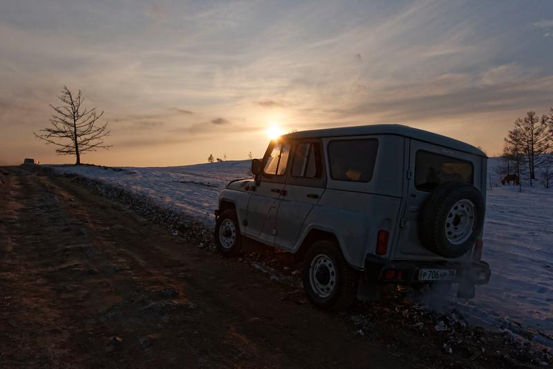 Crossing Olchon from Uzuri to Peschanaya