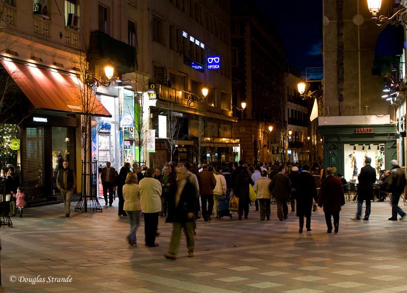 Sun 3/06 in Madrid: Calle Mayor at night