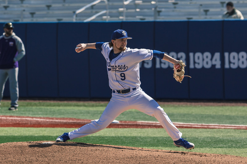 Indiana State baseball takes on Western Illinois at Bob Warn Field on March 10, 2018.
