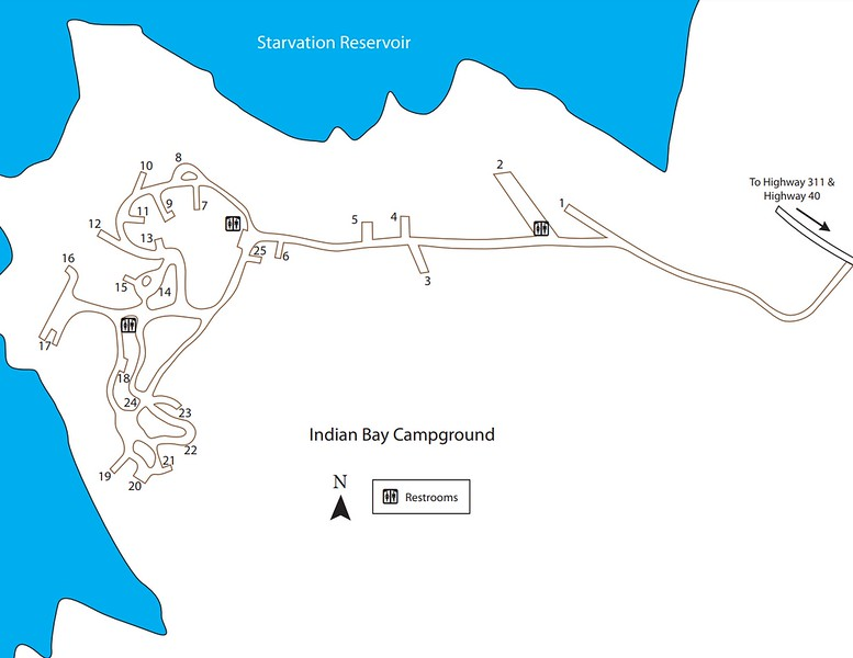 Starvation State Park (Indian Bay Campground)