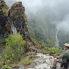 As soon as we got to the park, we headed for the entrance to Wayna Picchu, the big mountain spire you see looming over the Machu Picchu site. Only 400 hikers are allowed to climb to the top each day, and we made it in plenty of time.
