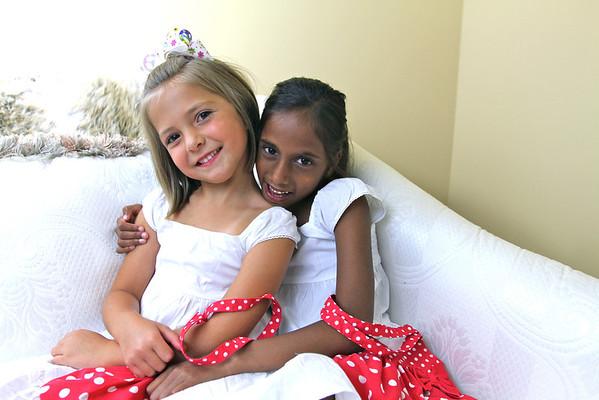 Sophia and Olivia June 2011