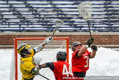 3-18-14 Michigan Men's Lacrosse Vs Maryland