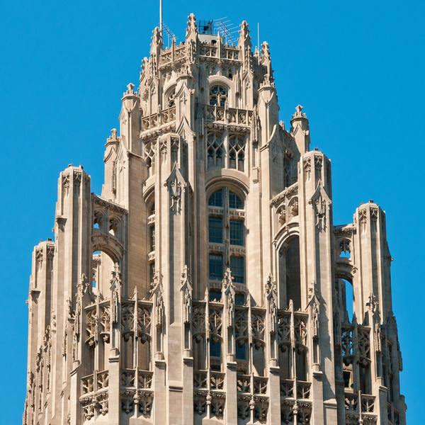 Top of the Tribune Tower -- very Gothic.