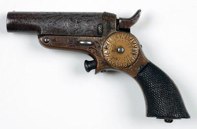 Starr Single Barrel Derringer Engraved