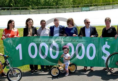 Conférence de presse présenté par DESJARDINS pour le vélodrome du CNCB