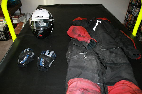 Damaged Riding Gear - Click for Larger Image