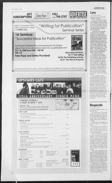 Daily Trojan, Vol. 156, No. 31, October 05, 2005