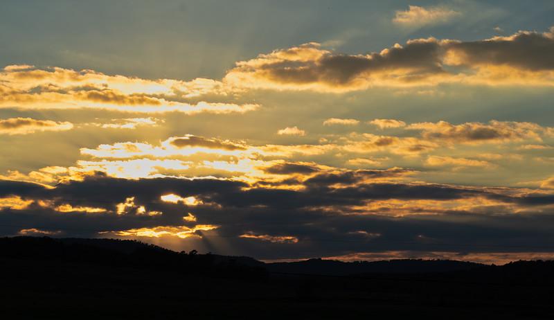 Sunset near Calico Rock