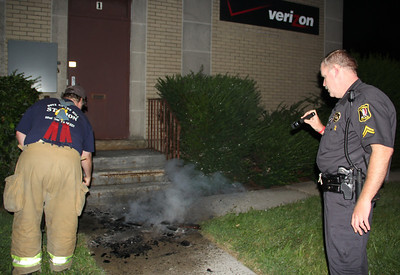 Location Where Man Starts Campfire, Verizon Building, Downtown Tamaqua (8-25-2013)