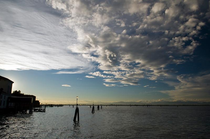 The lagoon from Fondamenta Nove docks, Venice, Italy