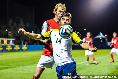 10-21-14 Michigan Men's Soccer Vs Detroit