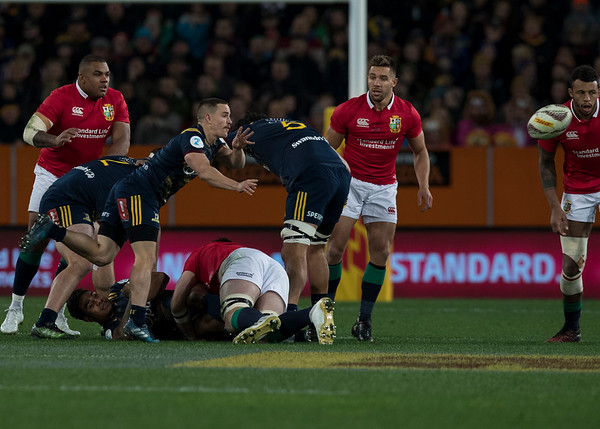 Kayne Hammington, during game 4 of the British and Irish Lions 2017 Tour of New Zealand,The match between  Highlanders and British and Irish Lions, Forsyth Barr Stadium, Dunedin, Tuesday 13th June 2017 (Photo by Kevin Booth Steve Haag Sports)  Images for social media must have consent from Steve Haag