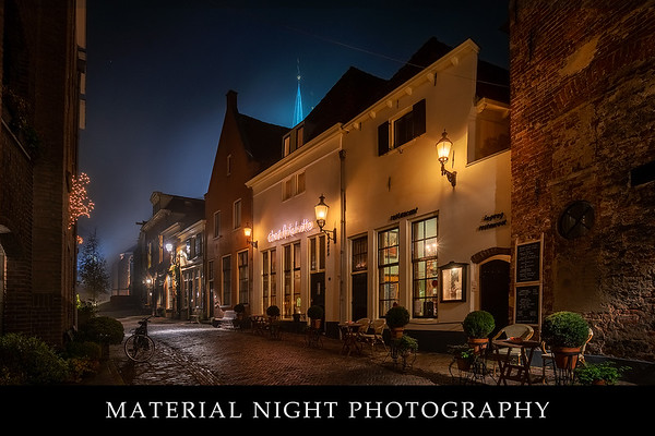 Material night photography