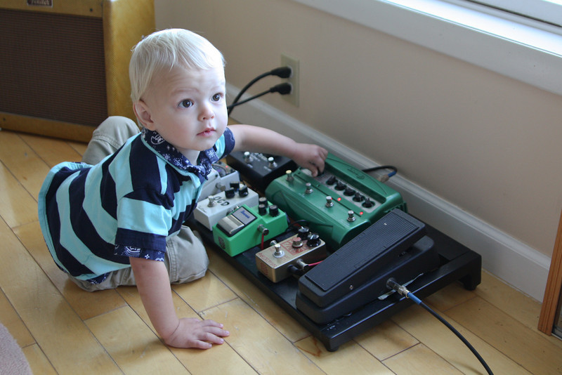 Quinn just couldn't get enough of Jeff's pedal board