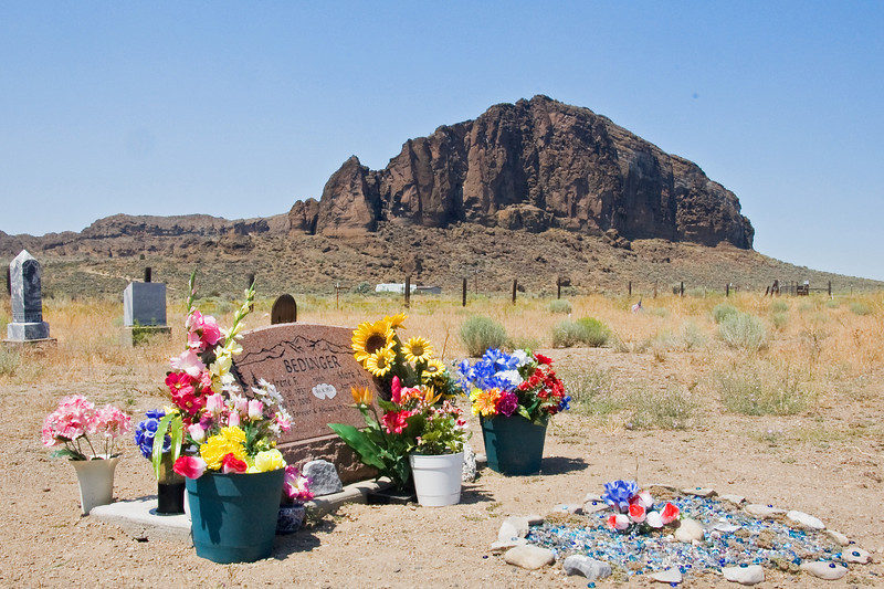 Fort Rock cemetery.