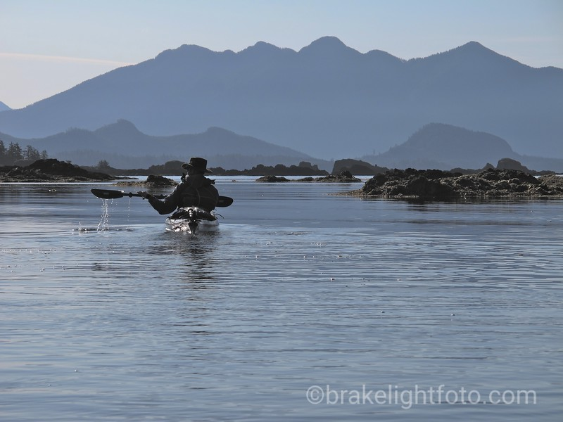 Paddling through the Mission Group Islands