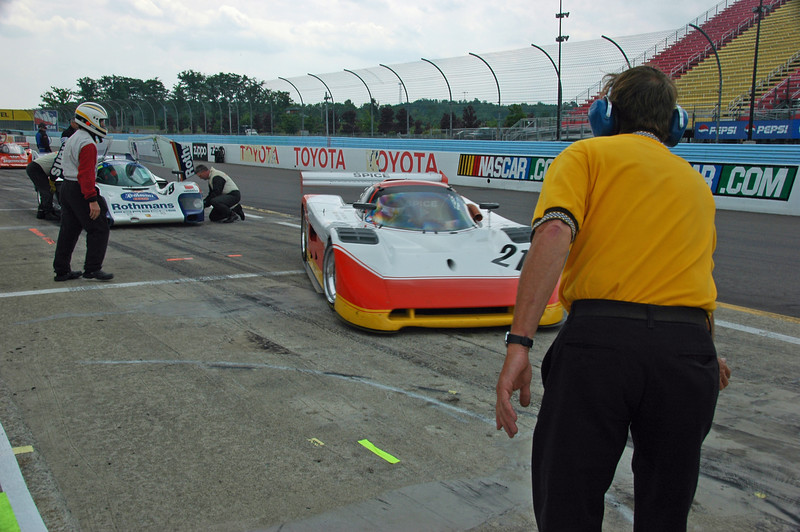 Pit stop during Historic GTP/WSC Rolex Enduro