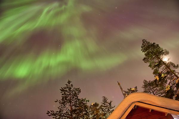 Auroral Corona Eating the Sky