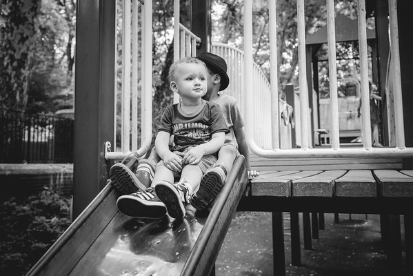 Cash and Grey at the playground | summer