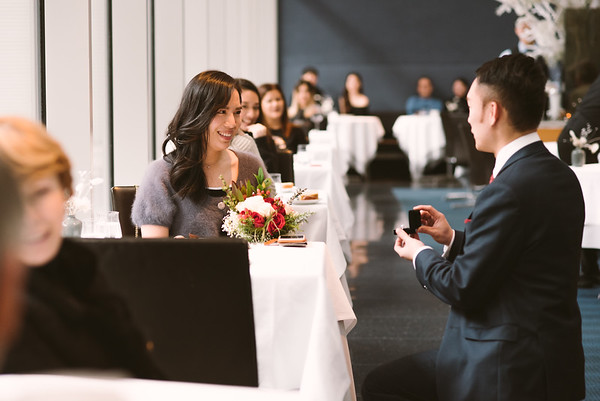 Joe's Surprise Proposal (at The Modern)