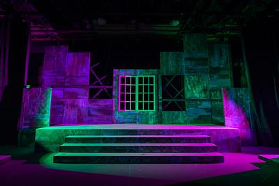 Rhinoceros set - Valencia College Theater 2020