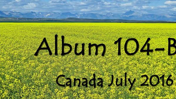 ALBUM 104 B CANADA  7.2016