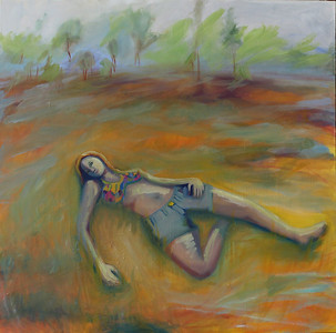 """""""Rest"""" (acrylic and oil) by Michelle Casale"""
