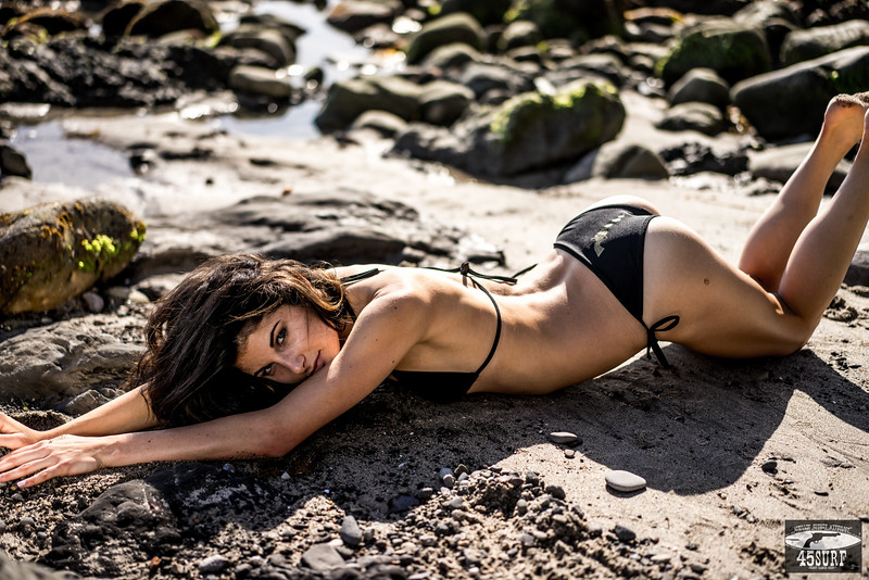 Sony A7R RAW Photos of Pretty, Tall Brunette Bikini Swimsuit Model Goddess in Seaside Bluff Cliff! Carl Zeiss Sony FE 55mm F1.8 ZA Sonnar T* Lens! Lightroom 5.3