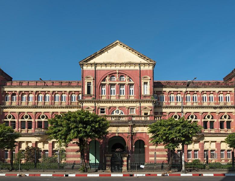 High Court Building in downtown Yangon (Rangoon), Burma (Myanmar)