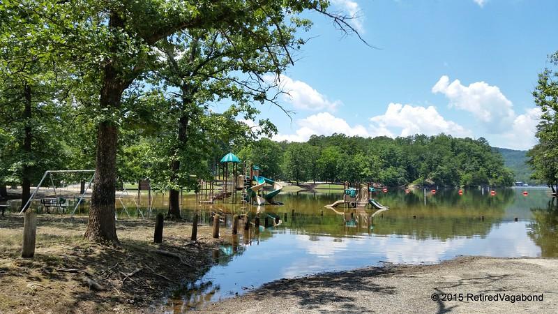 The flood recedes- playground was underwater