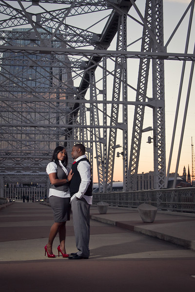 shelby street bridge engagement session