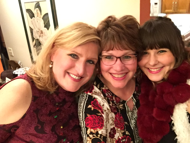 Anne, Fran and Elizabeth -- happy to be together!