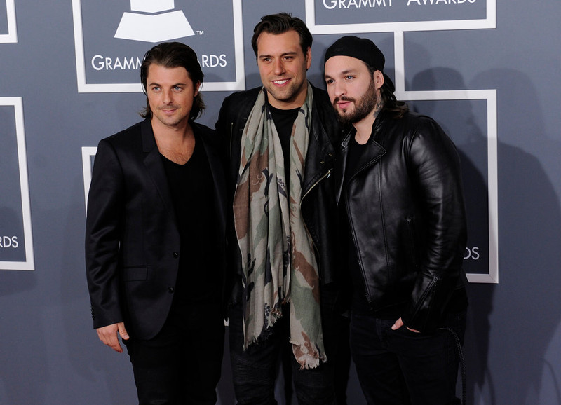 . Swedish House Mafia arrives to  the 55th Annual Grammy Awards at Staples Center  in Los Angeles, California on February 10, 2013. ( Michael Owen Baker, staff photographer)