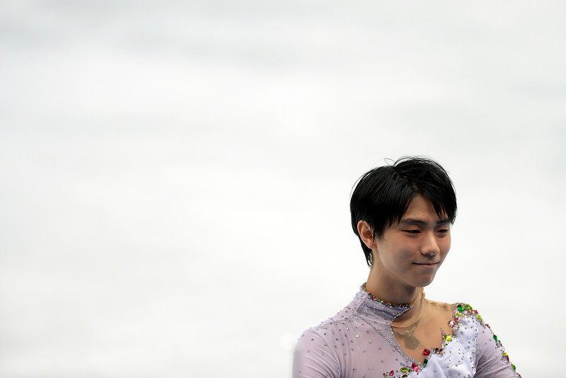 . Gold medalist Yuzuru Hanyu of Japan performs during the men\'s figure skating free skate. Sochi 2014 Winter Olympics on Friday, February 14, 2014. (Photo by AAron Ontiveroz/The Denver Post)