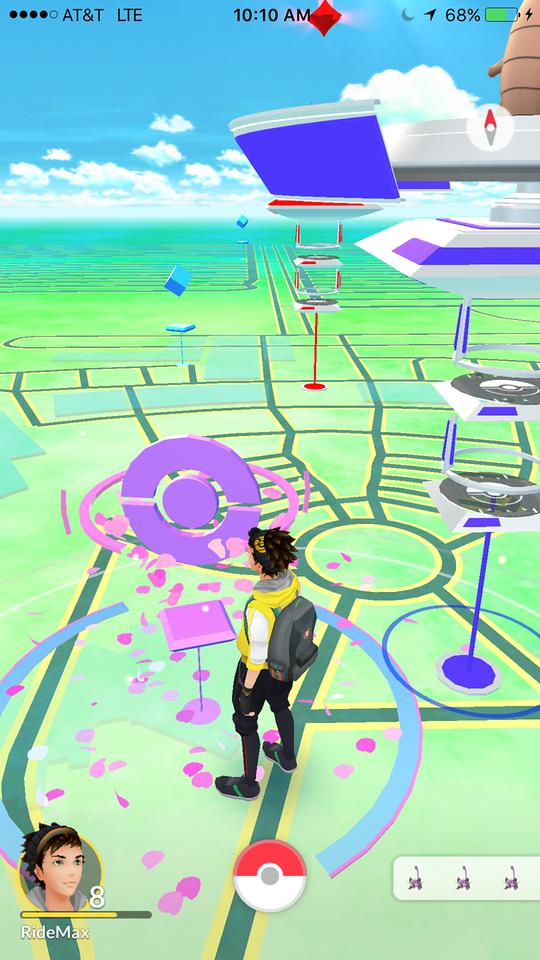 Pokémon GO World near Epcot's Spaceship Earth