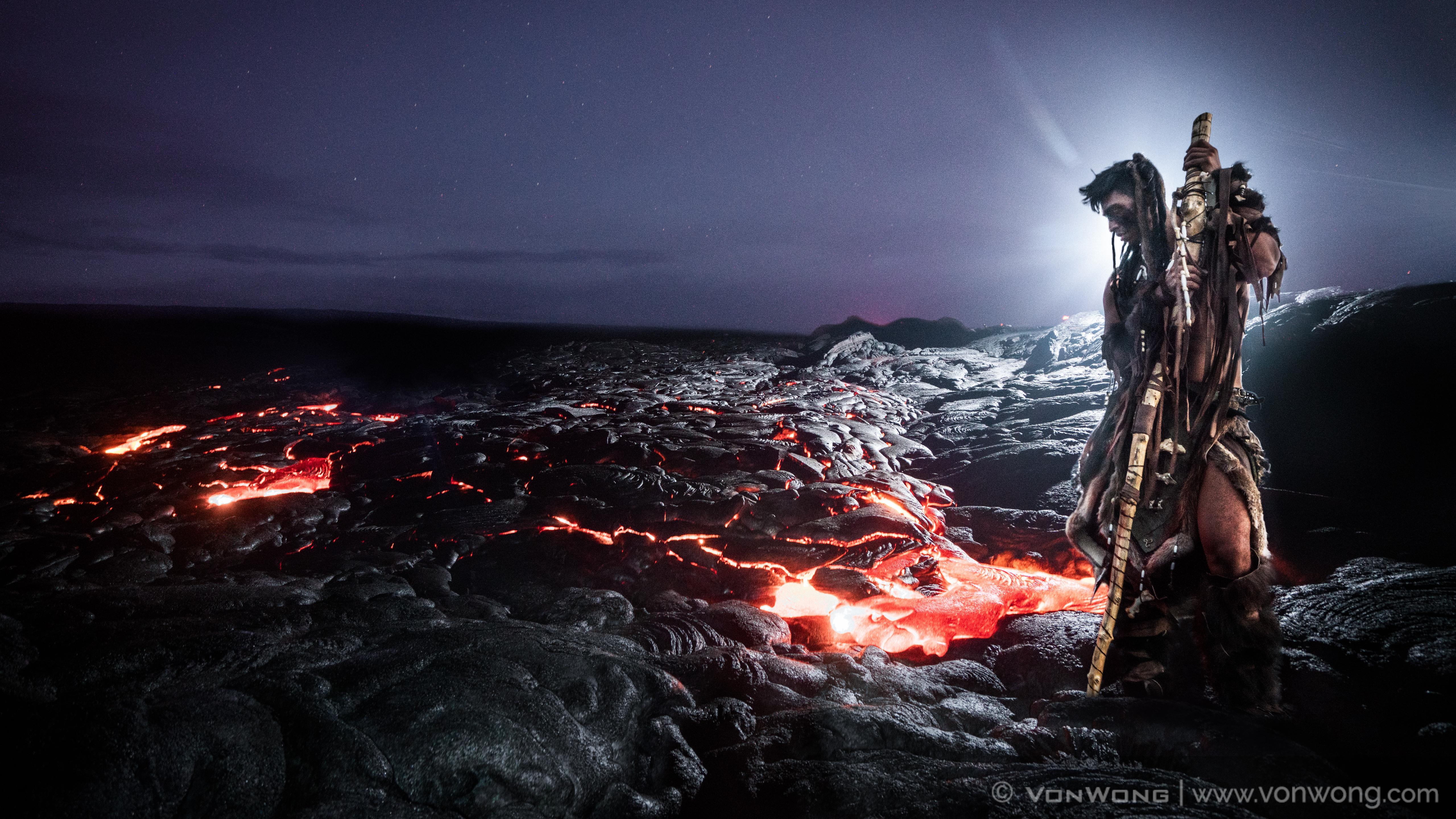 lava portrait Von Wong