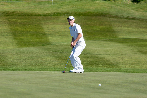 Kerry Mountcastle just missing a putt on the 6th hole on Day 3 of the Asia-Pacific Amateur Championship tournament 2017 held at Royal Wellington Golf Club, in Heretaunga, Upper Hutt, New Zealand from 26 - 29 October 2017. Copyright John Mathews 2017.   www.megasportmedia.co.nz