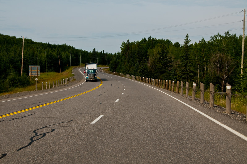 Not too long after leaving Sudbury... there are lots of nice curvy bits on the road, making for very enjoyable driving.