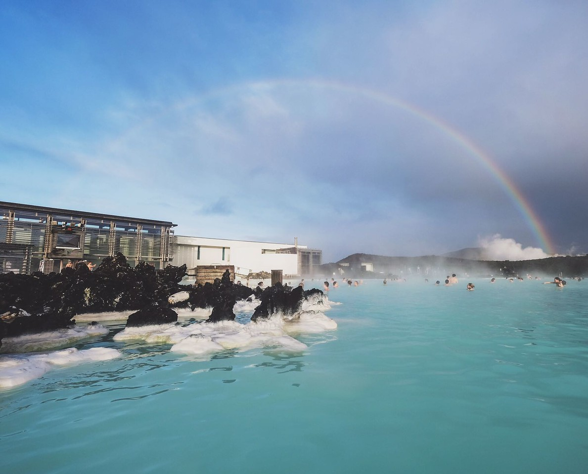 Rainbow over the Blue Lagoon