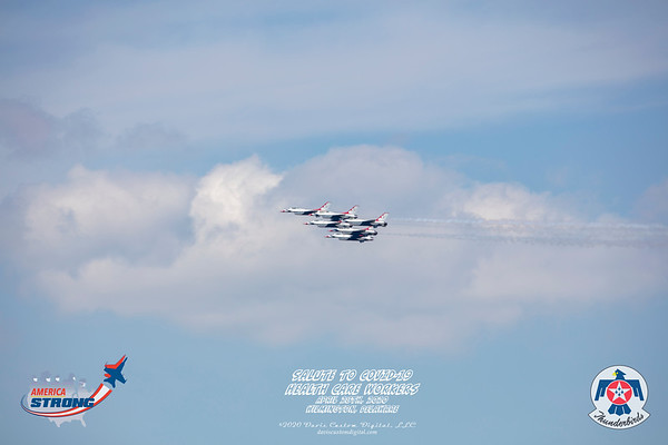 """""""America Strong"""" Fly-Over Tribute to our COVID-19 Health Care Workers"""